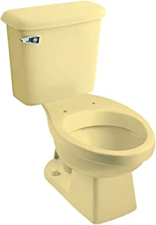 Peerless Pottery 7660-05 Hancock Vitreous China Elongated Toilet Kit with 12-in Rough, Harvest Gold