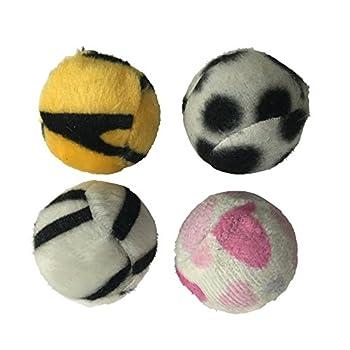 CODICO Zèbres Pack de 4 Balles pour Chat