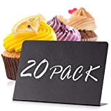 20 Pack Mini Chalkboard Signs 4'x3' for Food - Buffet - Tables - Small Chalkboard Sign - Mini Chalkboard Signs for Food - Table Chalkboard Signs - Mini Blackboard Signs for Food Buffet - Food Cards