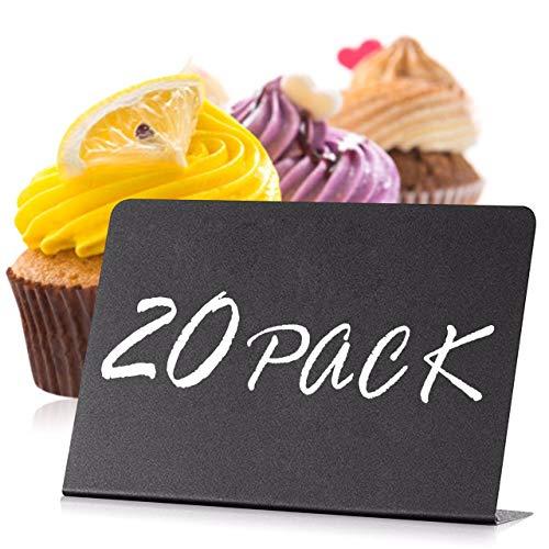 20 pezzi Mini lavagna Piccola Lavagnette Messaggi Bordo per segnaposti per Buffet - Matrimoni - Feste - Ristoranti - Numero di Tavolo - Messaggi - Cartellini Prezzi - Cartelli Alimentari