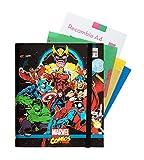 Grupo Erik Carpeblock 4 anillas Marvel comics avengers