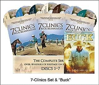 7 Clinics with Buck Brannaman Complete Set Vols 1-7 + Movie Buck