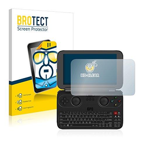 BROTECT Schutzfolie kompatibel mit GPD Win Rev 2 (2 Stück) klare Bildschirmschutz-Folie
