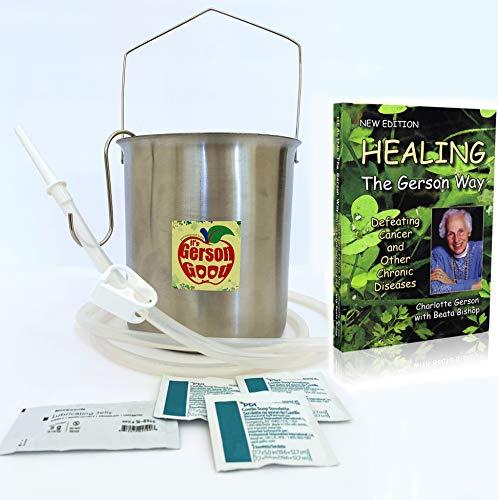 Healing The Gerson Way and Enema Bucket Kit
