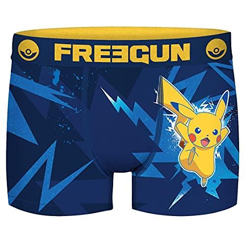 FREEGUN Calecon Boxer Garcon Microfibre Pokemon Taille 12/14 Ans