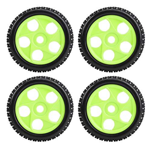 DAUERHAFT Resistencia a los Golpes, Gran Accesorio Mejorado, neumáticos de Coche RC para vehículos Todoterreno para orugas(Green 5-Hole Outline)
