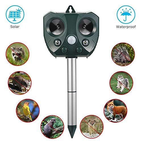 DAMPOH Animal Repeller, Repellente per Gatti Repellente ad energia Solare ad ultrasuoni per Animali...
