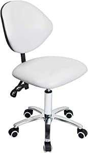 Roll-ff High Back Executive Office Chair Ergonomic Home Office Chair Managerial Leather Chair Thick Cushion Support White