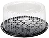 10-11inch Cake Double Layer Clear Cake Container Dome and Base Carry & Display Storage Box,1 Count (Pack of 4)