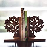 ExclusiveLane Wooden Hand Carved & Engraved Tree of Life Book End in Sheesham