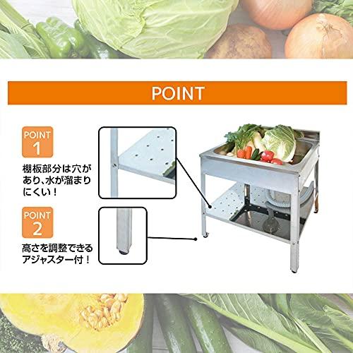 サンカ錆びにくいステンレス製シンクが深い簡易流し台屋外アウトドア用ガーデンキッチン600SK-0600日本製