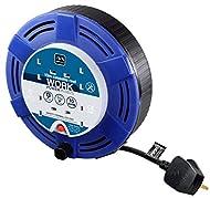 Masterplug MCT1010/4BL-MP Four Socket Cassette Reel Extension Lead, 10 Metres, Blue