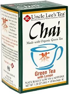 Chai-Green Tea/Lemon Organic Uncle Lee's 18 Bag