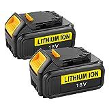 Energup 2 piezas 18V 5.0Ah Batería de repuesto para DeWalt DCB184 DCB200 DCB182 DCB180 DCB181 DCB182 DCB20