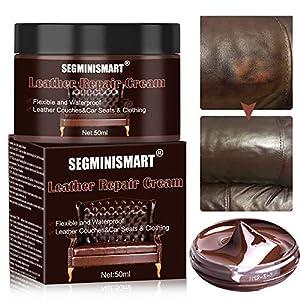 SEGMINISMART Kit de Reparación de Cuero,Kit de Restauración para Sofás, Sofás de Asiento de Coche, Bolsa, Cinturón, Zapatos, Reparación de Arañazos,Reparación y más