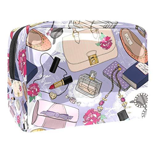 Bolsa de cosméticos para Mujeres Patrón de Moda sin Fisuras para niñas Bolsas de Maquillaje espaciosas Neceser de Viaje Organizador de Accesorios