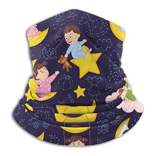 AEMAPE Babys auf dem Mond Gesichtsmaske Halswärmer Kragen Schal Bandana Schal...