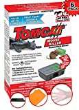 Tomcat Mouse Killer-Effective-Tested-Rodent Killer-Child and Dog Resistant-Disposable 6 Pack Bait Stations, Certified