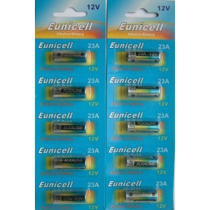 Eunicell - Piles alcaline 23A 12V lot X10 - 1 - Pack