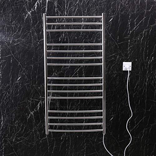 Inicio Equipo Rieles para toallas con calefacción Perchero eléctrico de alta gama Toallero eléctrico de acero inoxidable Soporte para toallas de mano montado en la pared para baño y spa (Tamaño: B)