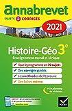 Annales du brevet Annabrevet 2021 Histoire-géographie EMC 3e: sujets,...