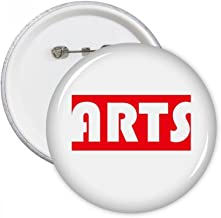Course and Major Single Word Arts Red Round Pins Badge Button Clothing Decoration Gift 5pcs
