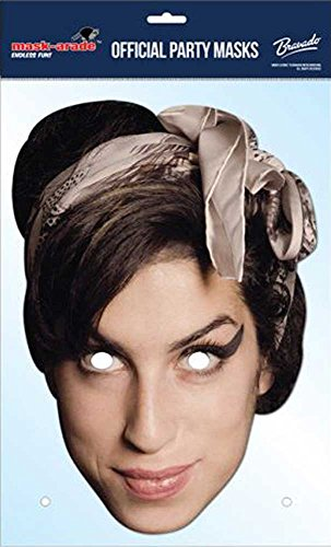 Amy Winehouse promi Masque Empire Masque en Carton de Elizabeth II avec Trous pour Les Yeux et élastique 30 x 21 cm