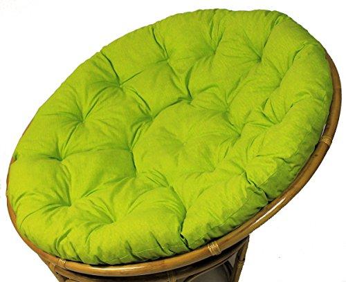 Rattani - Polster für Papasansessel, Auflage, Ersatzpolster Papasan D 120 cm, Stoff Loneta hell grün, Made in EU