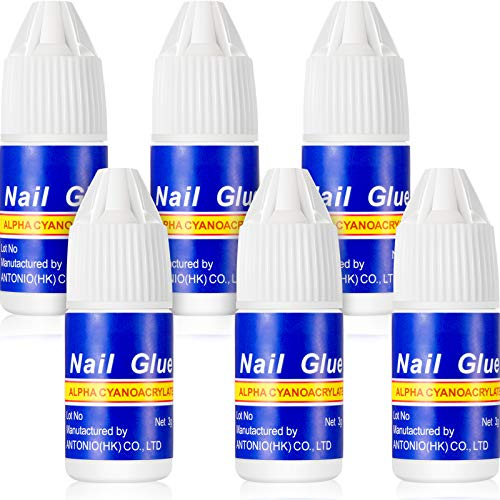 6 Stücke Nagelkleber Schnell Nagelspitze Kleber Schönheit Falsch Nagel Klebstoff für Stock oder Reparatur Künstliche Nägel