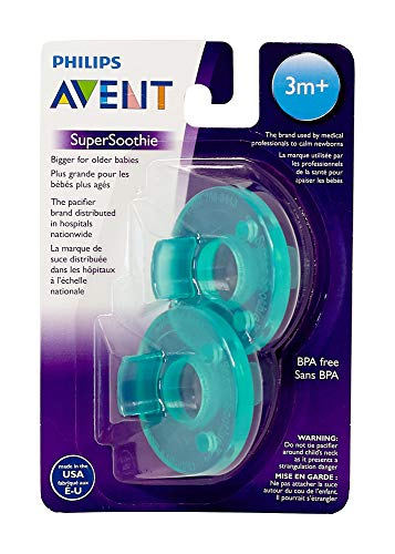 Philips Avent BPA Free Soothie Pacifier, 3+ Months, Green, 2 Pack, SCF192/05