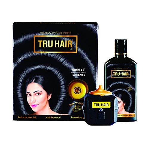 Krishna TRU HAIR Herbal Hair Oil 110ml with Tru Heater to Warm the Hair Oil (Pack of 2)
