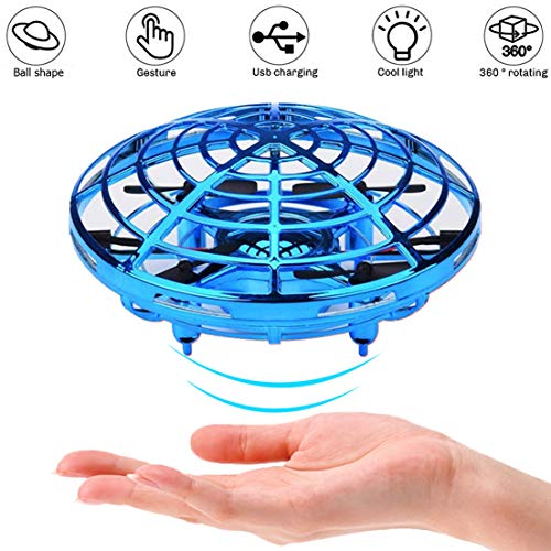 Flying Ball, Hand Operated Drones for Kids Adults, Boy Toys, Scoot Mini Drone for Kids, UFO Flying Toy, Helicopter, Small Orb, Hover Ball Toy, 2 Speeds,360 Degree, Interactive Toys for Boys Kids