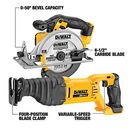 DEWALT 20V MAX Combo Kit, Compact 6-Tool (DCK620D2)