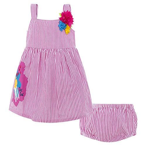 Tuc Tuc Vestido POPELÍN Rayas NIÑA Nature FUSIÓN, Rosa (Rosa 1), 74 (Tamaño del Fabricante:9M) para Bebés