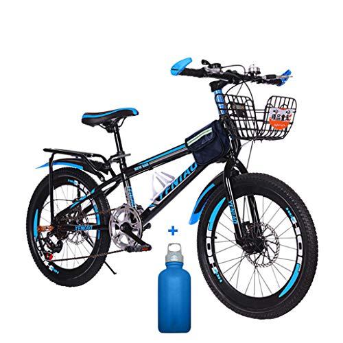 Mountainbikes 22 Zoll Fahrrad Kohlenstoffreicher Stahl Strong Fully, geignet ab Scheibenbremse vorne und hinten,Vollfederung Scheibenbremse, Jungen-Herren Fahrrad,mit Vorder-Hinterschutzblech