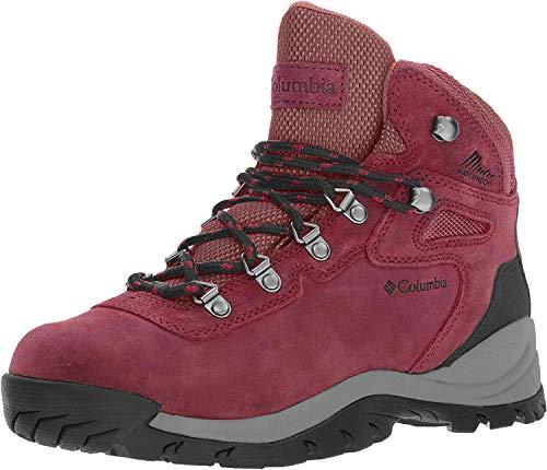 Columbia Newton Ridge Plus Waterproof Amped, Zapatos de Senderismo Mujer, Marsala Sunset Red, 41.5 EU