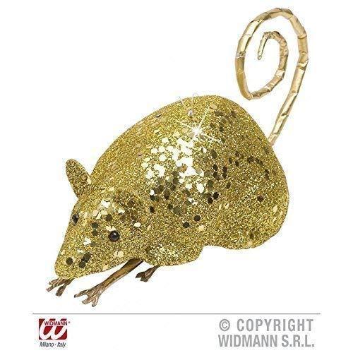 Lively Moments Souris / Rat Couleur Or Scintillant Env. 12 cm / Décoration de Halloween / Décoration de Table/Salle de Séjour Déco