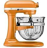KitchenAid KF26M2XTG 6-Qt. Professional 600 with Glass Bowl, Tangerine