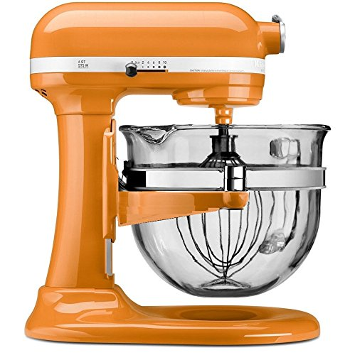 KitchenAid KF26M2XTG 6-Qt. Professional 600 with Glass Bowl, Tangerine