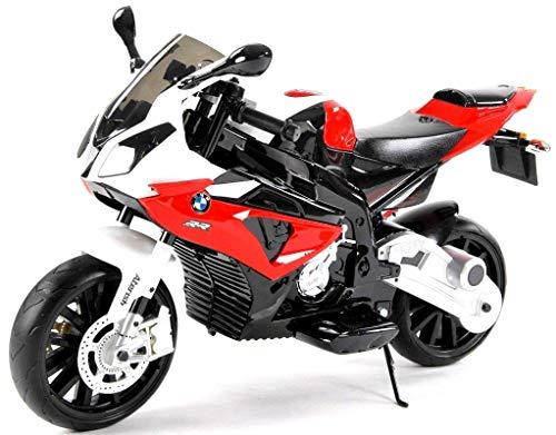 giordano shop Moto Elettrica per Bambini 12V BMW S 1000 RR Super Sport Rossa 2 Motori