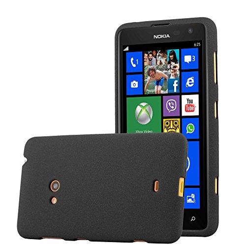 Cadorabo Hülle für Nokia Lumia 625 in Frost SCHWARZ - Handyhülle aus flexiblem TPU Silikon - Silikonhülle Schutzhülle Ultra Slim Soft Back Cover Hülle Bumper