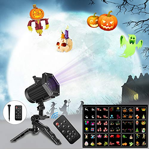 Comkes Christmas Lights, 15 Patterns LED Projector Lights,Waterproof Dynamic Christmas Projector Spotlights,Decoration for Halloween, Christmas,New Year,Outdoor/Indoor Use