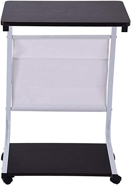 真正去美国直销 U 形书桌电脑桌笔记本电脑学习写字台家用办公室工作站可移动小型简单茶几电脑桌 18 13 26 4 英寸黑色