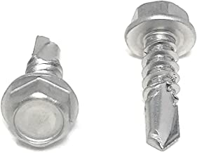 #12x3/4 Stainless Steel Hex Washer Head Self Drilling Tapping TEK Screw (410 Stainless Steel) 100 Pieces 12x3/4