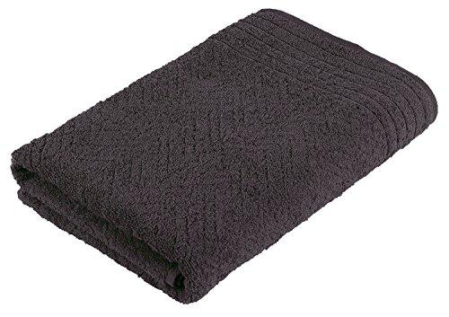 frottana Elegance – Duschtuch 67 x 140 cm aus 100% Baumwolle, graphite