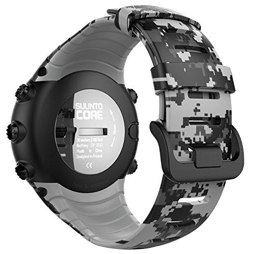 MoKo Suunto CORE Watch Cinturino, Braccialetto di Ricambio in TPU Morbido con Gancio Metallico per Suunto CORE Smart Watch, con Connettore Biella, per Polso 140mm-230mm, Camuffamento Digitale
