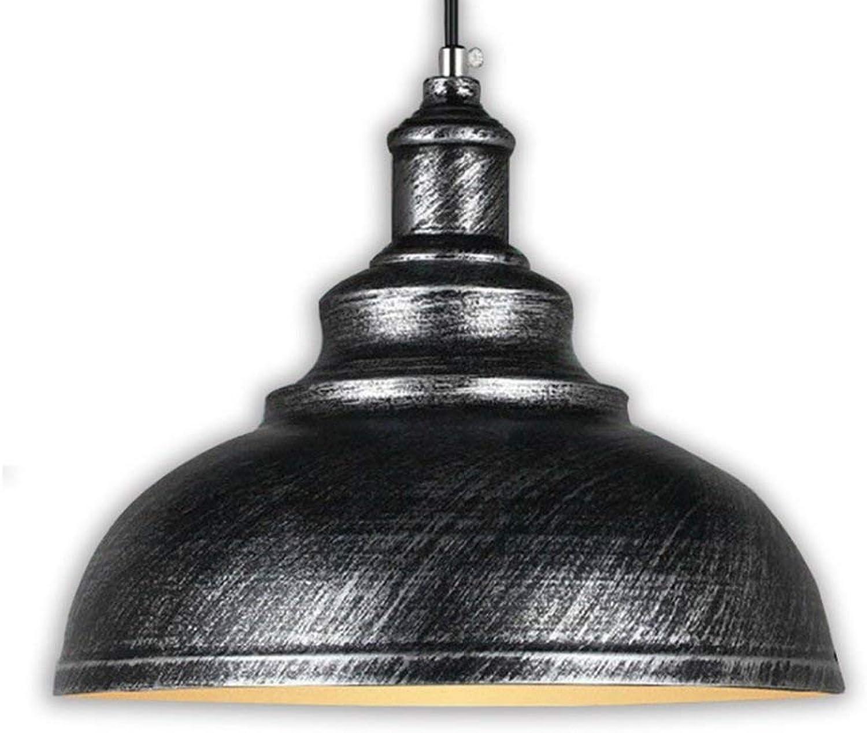Xiao Fan    Retro Kronleuchter Nordeuropa Loft Industrial Wind LED Bartheke Eisenkunst Deckel Restaurant Lichter E27 (Farbe  Silberbronze)