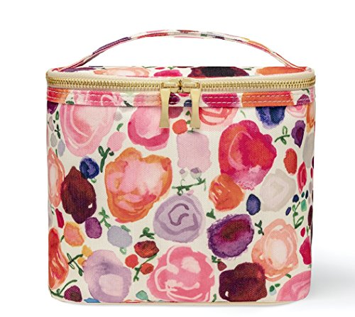 Kate Spade New York Insulated Soft Cooler Lunch Tote with Double Zipper Close and
