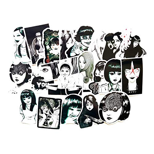 BLOUR 21pcs Junji Itou TOMIE Whirlpool Fans Anime Vintage Paster Cosplay lustigeAufkleberScrapbooking DIY SpielzeugAufkleber Telefon Laptop