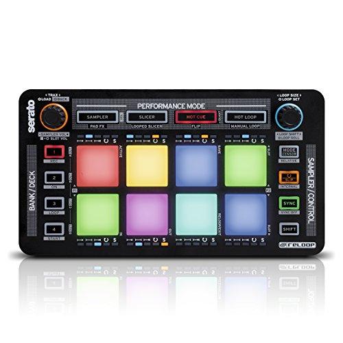 Reloop Neon – Add-On USB DJ Controller mit anschlagdynamischen RGB-Performance-Drumpads, Plug and Play mit Serato DJ Pro, (schwarz)